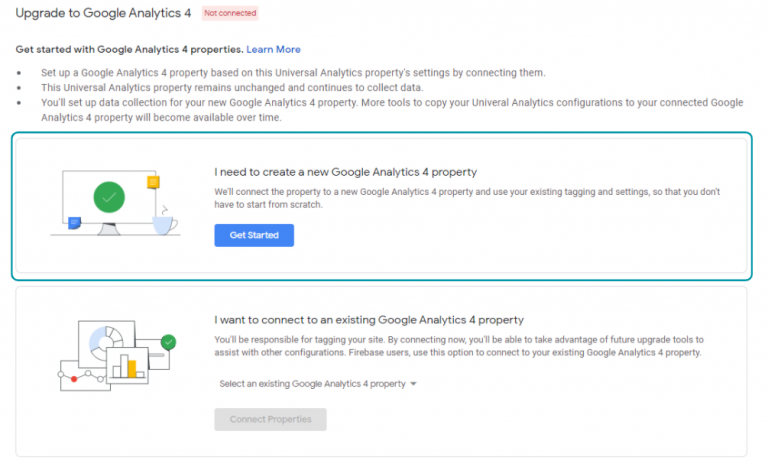 Google Analytics 4 nieuw property