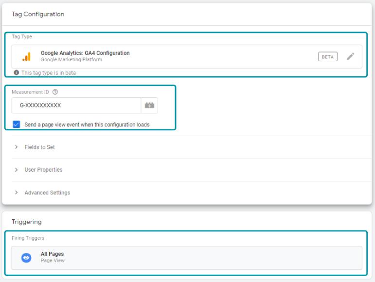 Google Analytics GA4 configuration tag